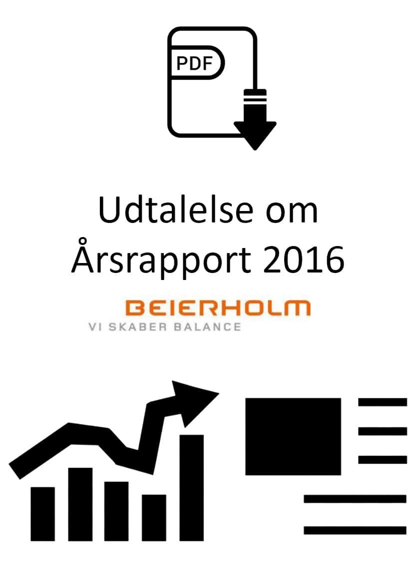 Udtalelse om Årsrapport 2016 for Opholdsstedet Bustrup